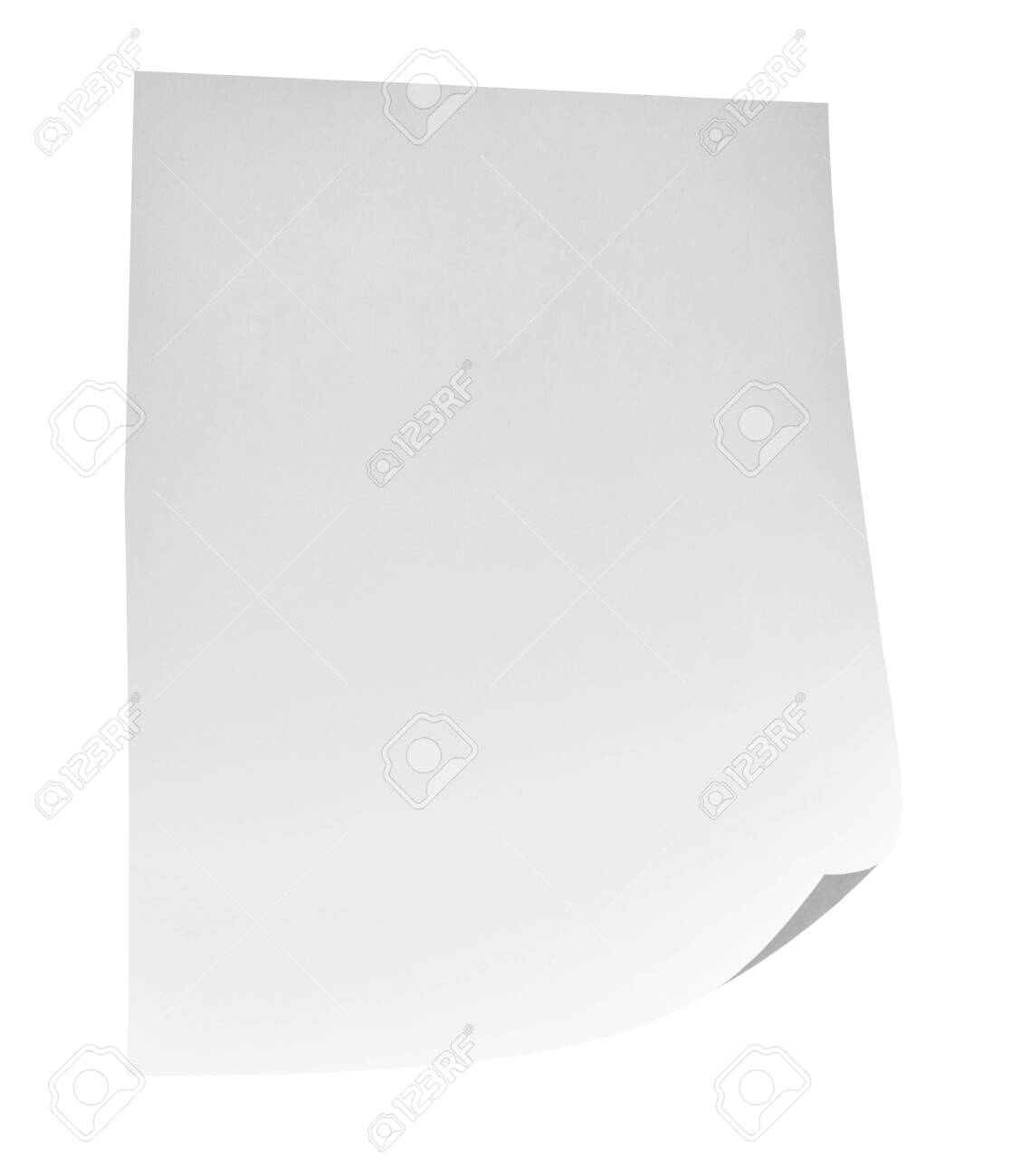 close up of flying papers on white background - 138798081