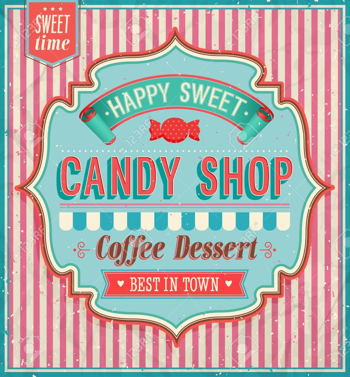 Candy shop. Vector illustration. - 26935154