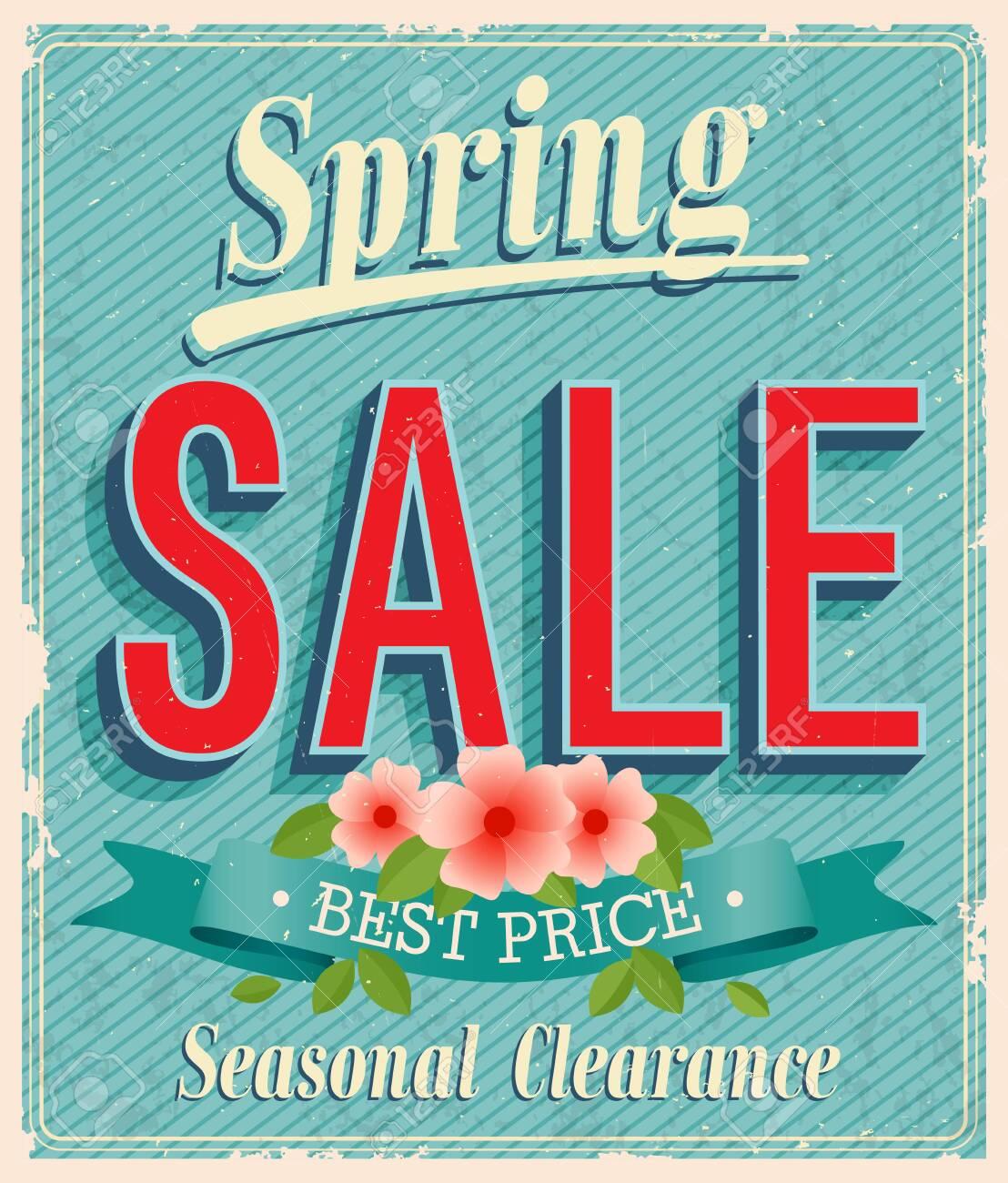 Vontage card - Spring Sale. - 26935235