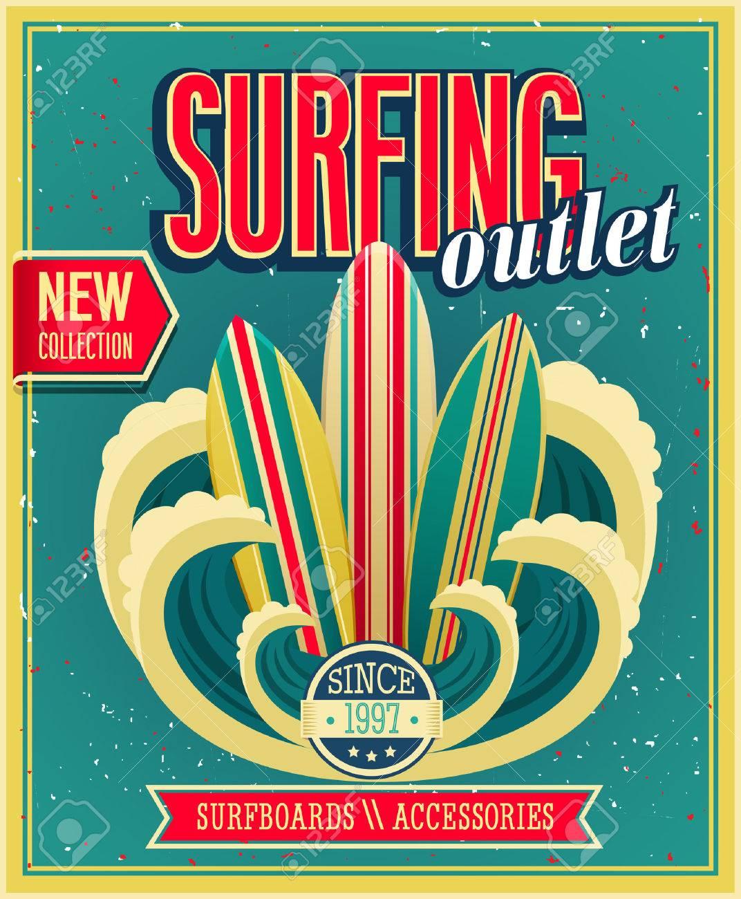 Surfing otlet. Vector ilustration. - 26935281