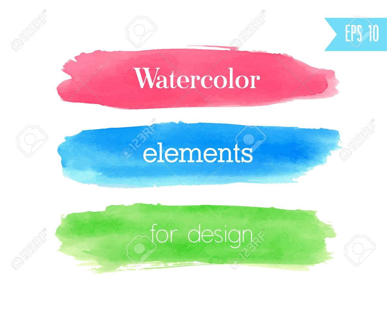 Watercolor brush stroke. Vector illustration. - 34331372