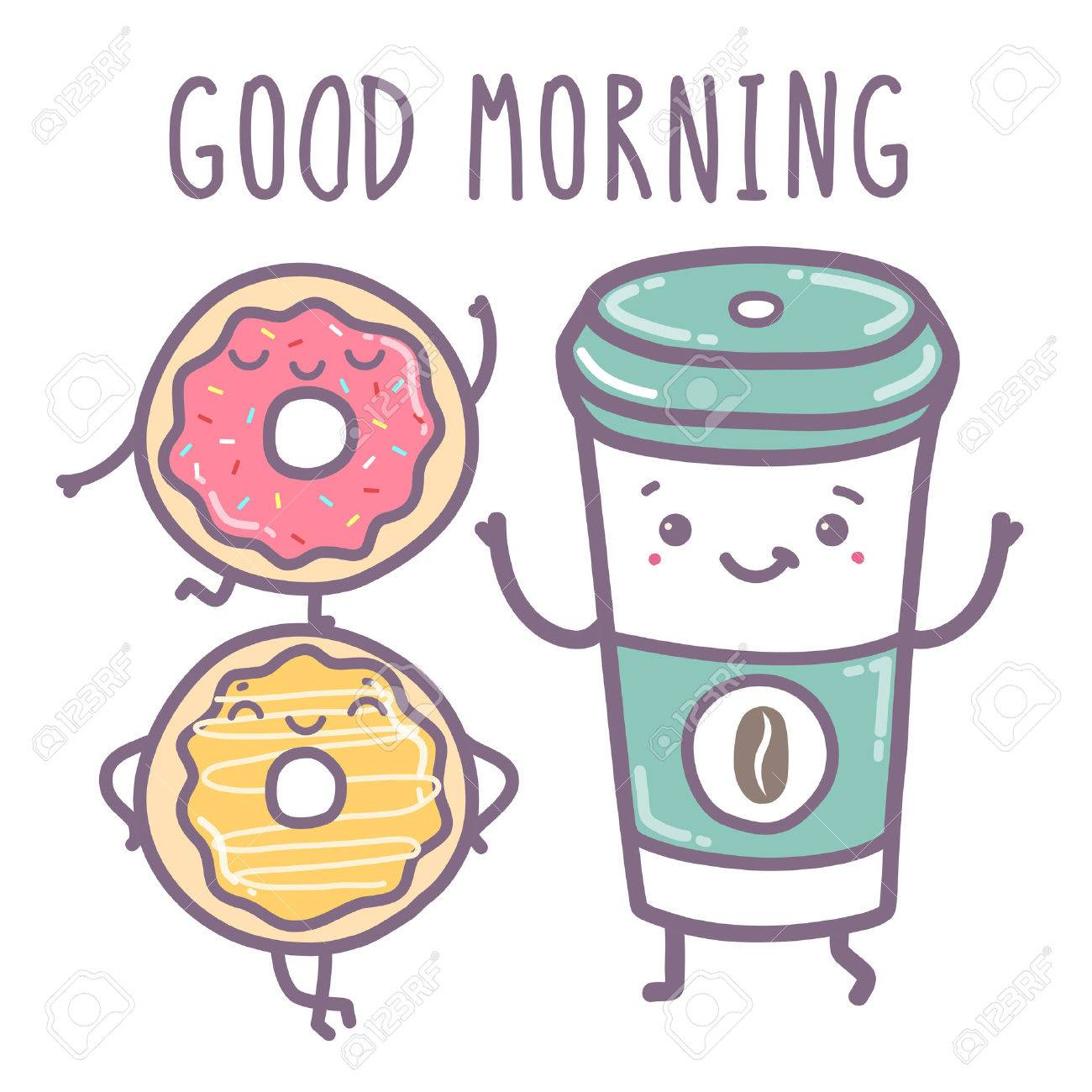 Vector hand draw illustration - good morning. - 43126207