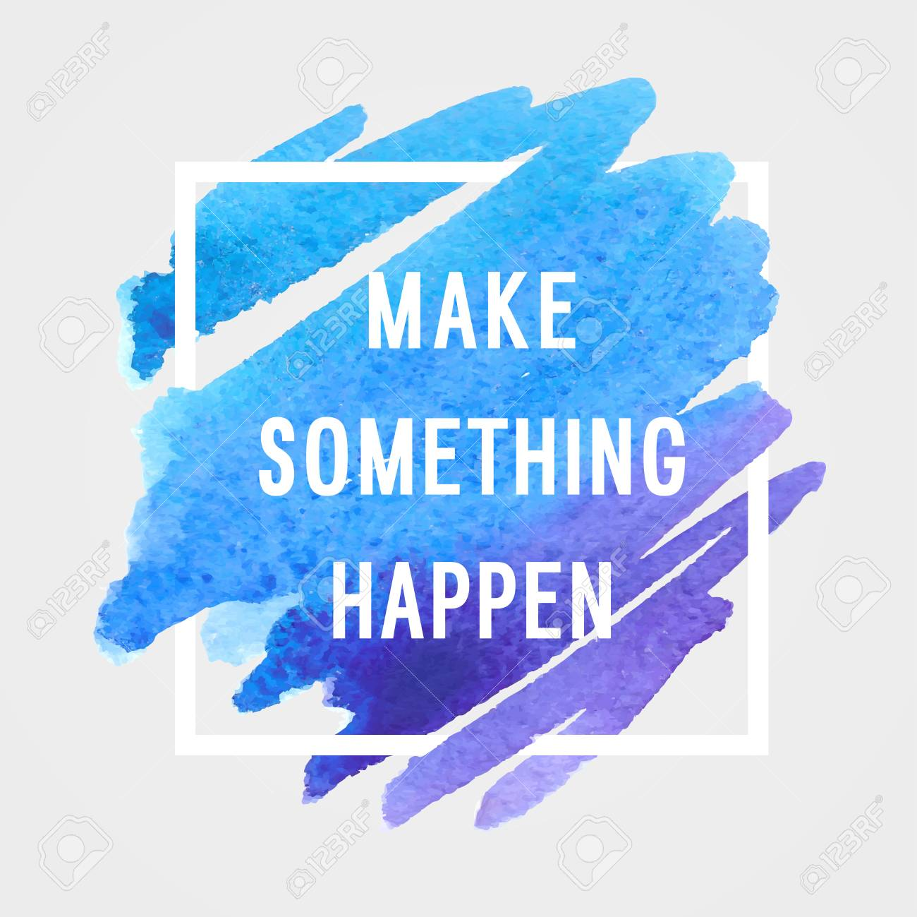 "Motivation poster ""make something happen"" Vector illustration. - 44312167"