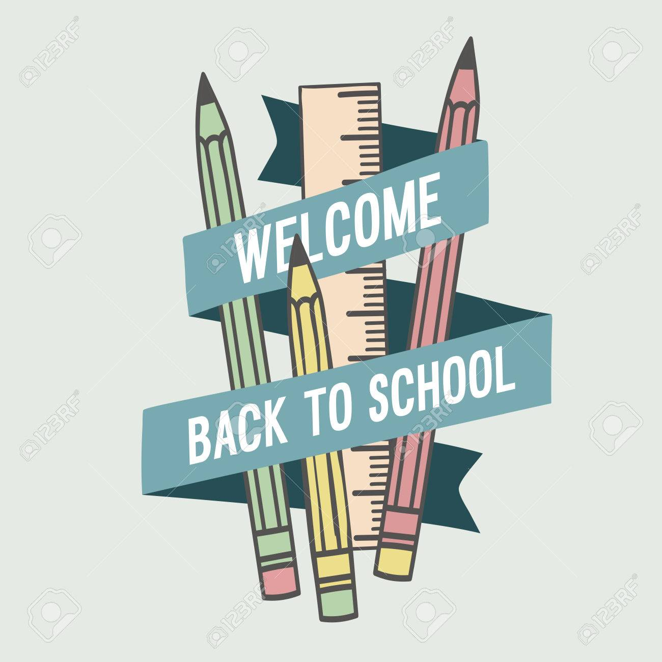 Welcome back to school. Vector illustration. - 63392301
