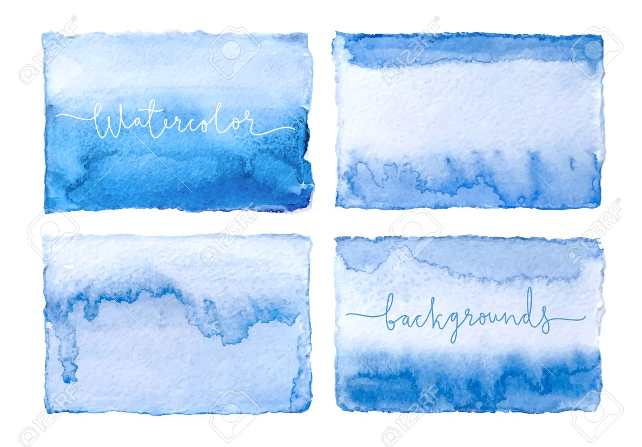 Watercolor cards. Vector background. - 99746487