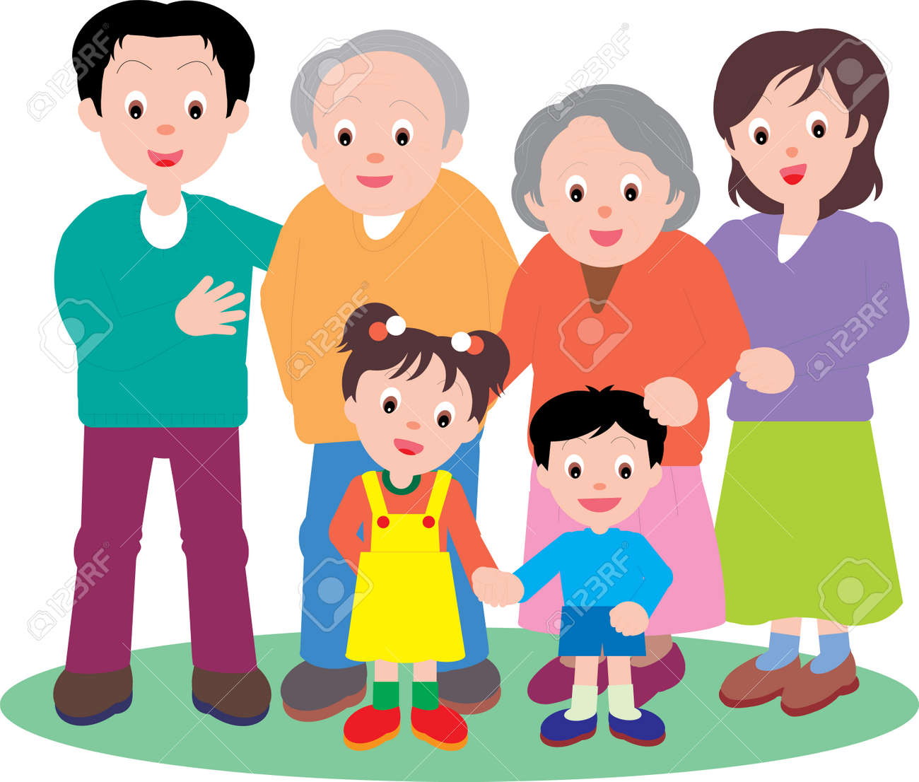 Vector Illustration of a happy family going out together. - 152160375