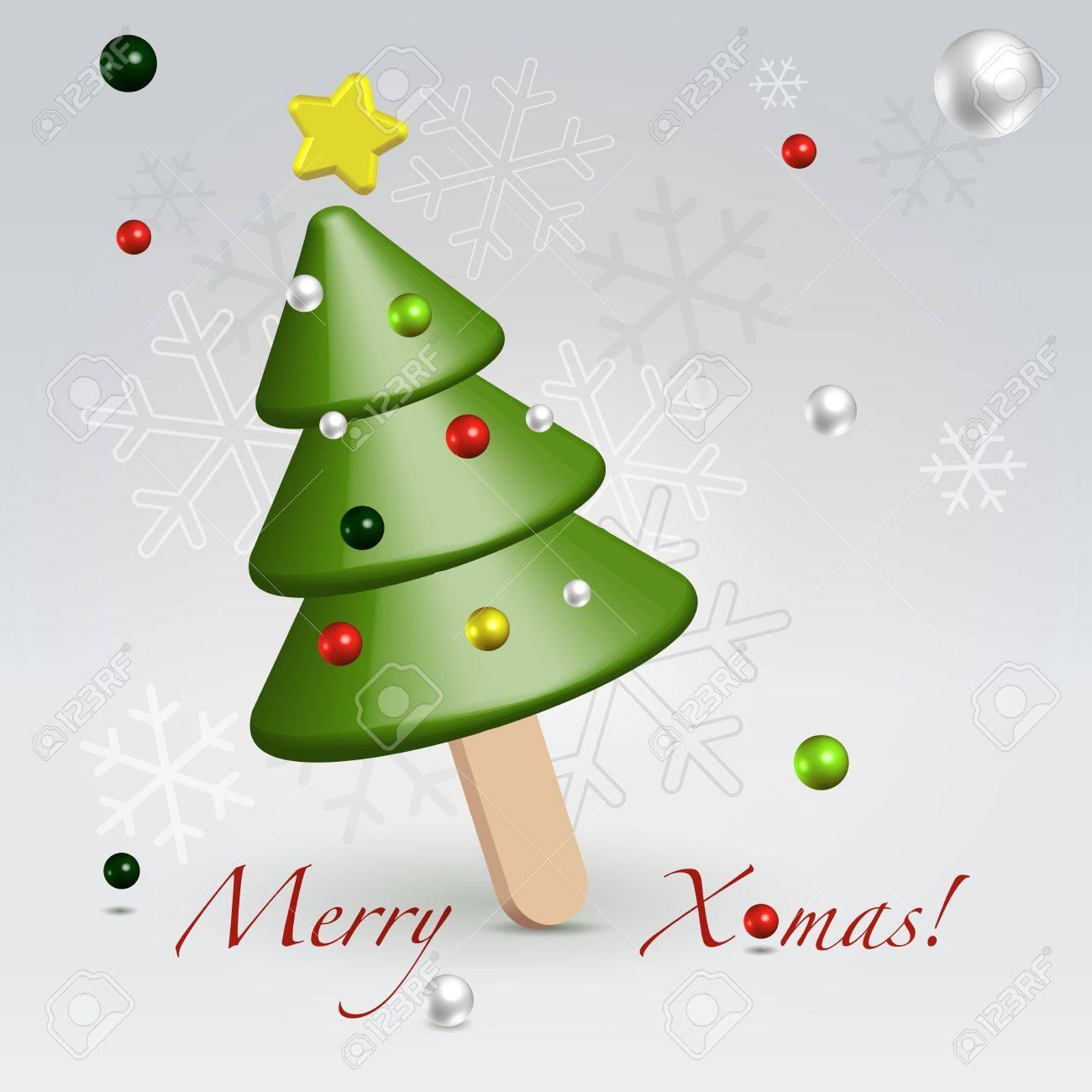 Figure Fur Tree Icecream As A Sweet Food Concept Of Christmas ...