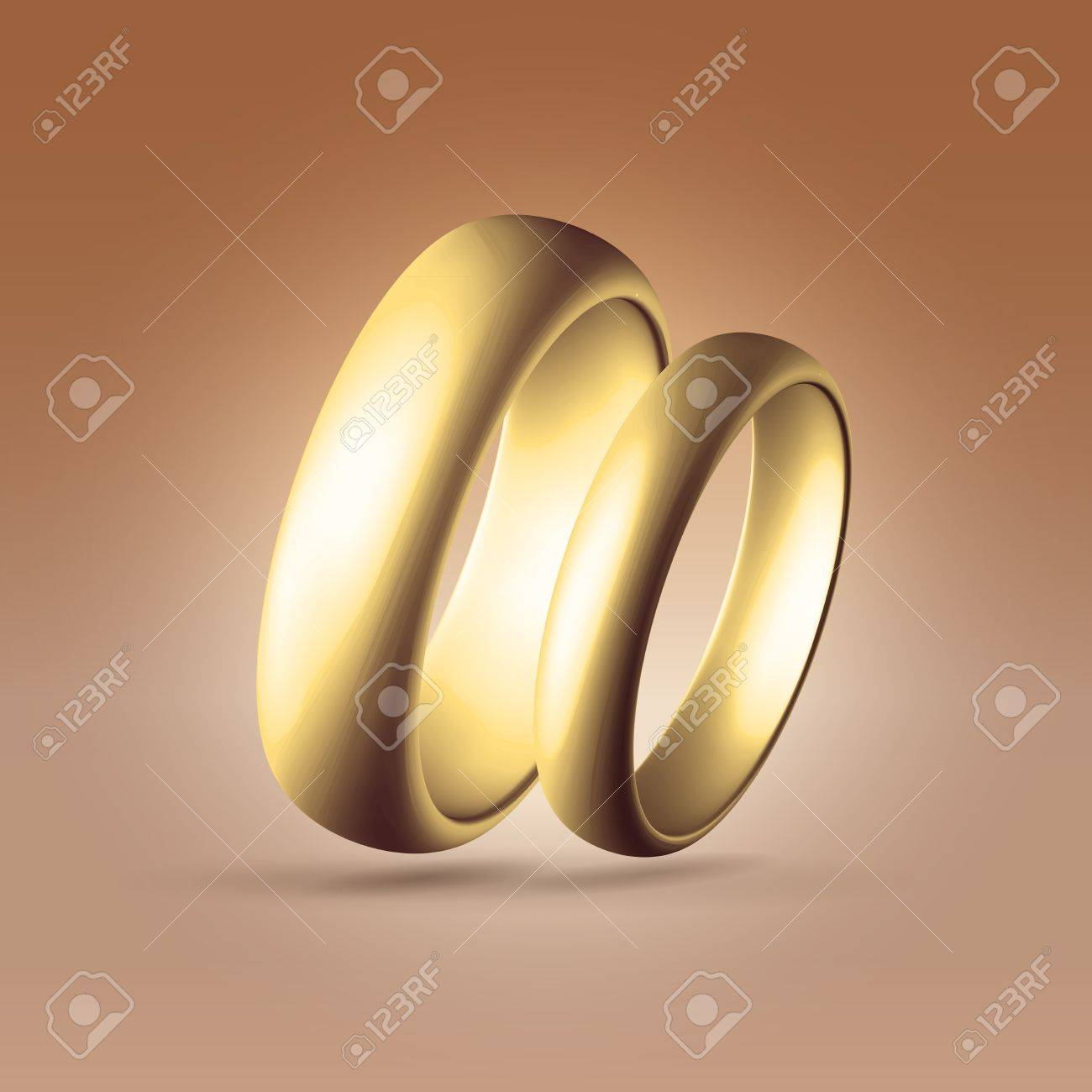Golden Glossy Wedding Band Simple Curved Couple Of Rings Heart Stock Photo Picture And Royalty Free Image Image 20509964