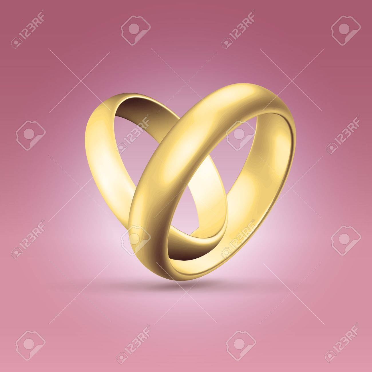Golden Glossy Wedding Band Simple Curved Couple Of Rings Heart Stock Photo Picture And Royalty Free Image Image 20509956