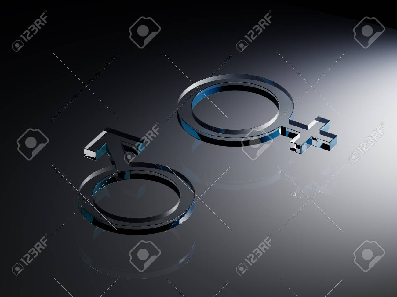 The Symbols Mars And Venus For Man And Woman Rendering Stock Photo