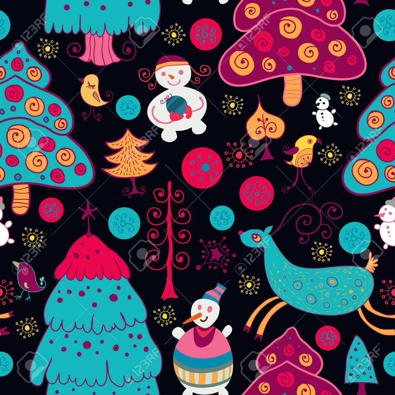 Christmas seamless pattern with xmas toys Stock Vector - 27205066