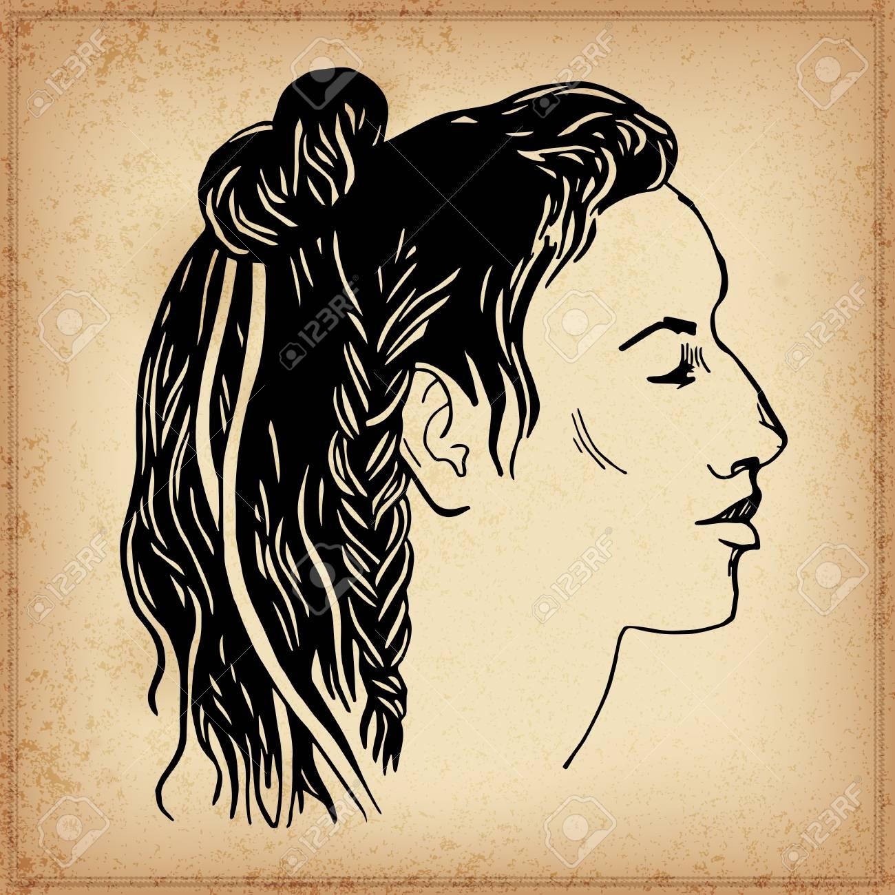 Native american head vector illustration elements in native native american head vector illustration elements in native style for greeting card and postcard m4hsunfo