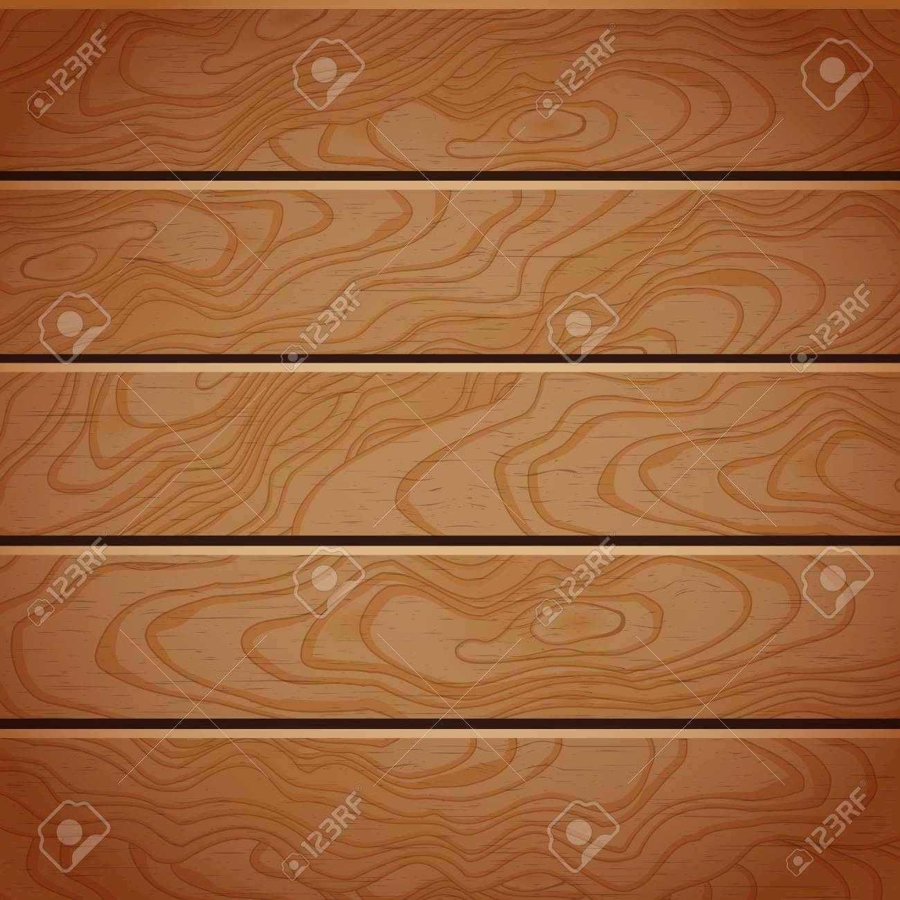Cartoon Square Vector Background With Wooden Boards Stock