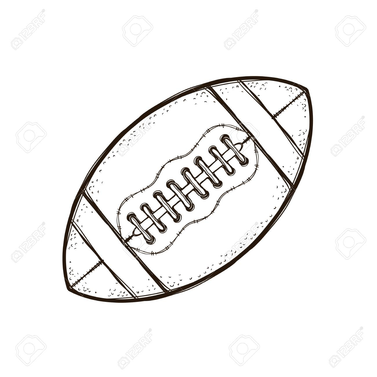 American Football Ball Isolated. Coloring Book Lizenzfreie Fotos ...