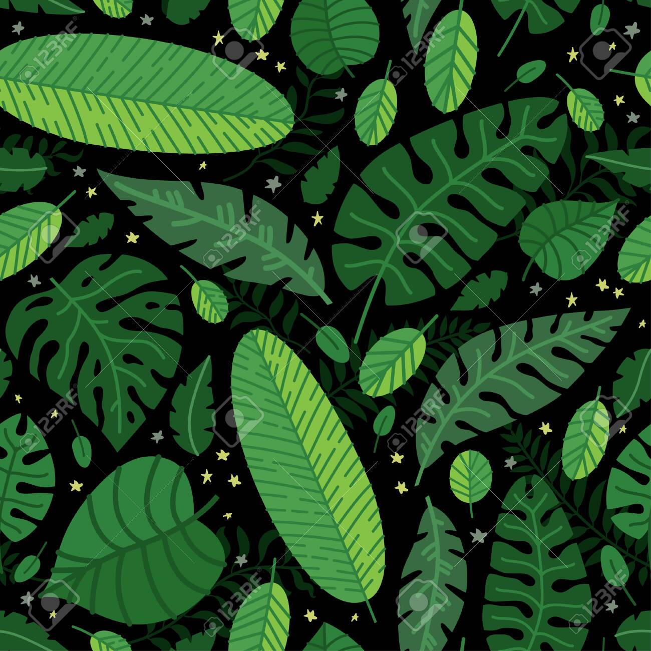 Tropical Leaves Vector Pattern Summer Equatorial Rainforest Royalty Free Cliparts Vectors And Stock Illustration Image 124097168 Freepik free vectors, photos and psd freepik online editor edit your freepik templates slidesgo free templates for presentations stories free editable illustrations. tropical leaves vector pattern summer equatorial rainforest