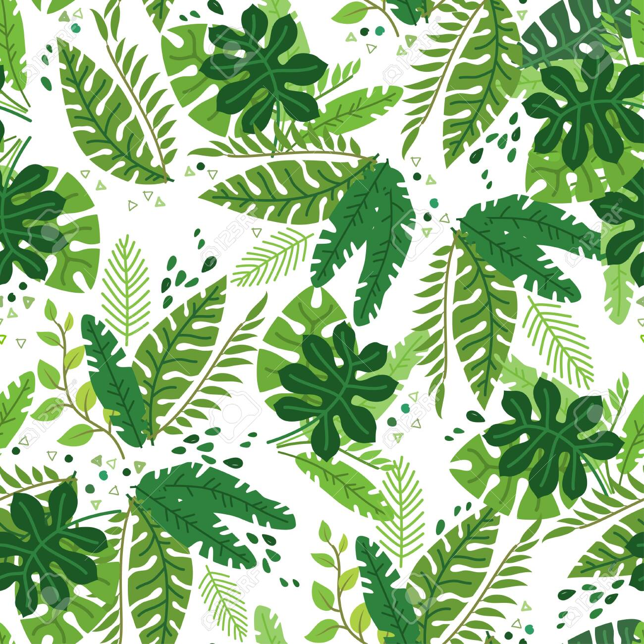 Tropical Leaves Vector Pattern Summer Equatorial Rainforest Royalty Free Cliparts Vectors And Stock Illustration Image 123755687 Choose from over a million free vectors, clipart graphics, vector art images, design templates, and illustrations created by artists worldwide! tropical leaves vector pattern summer equatorial rainforest