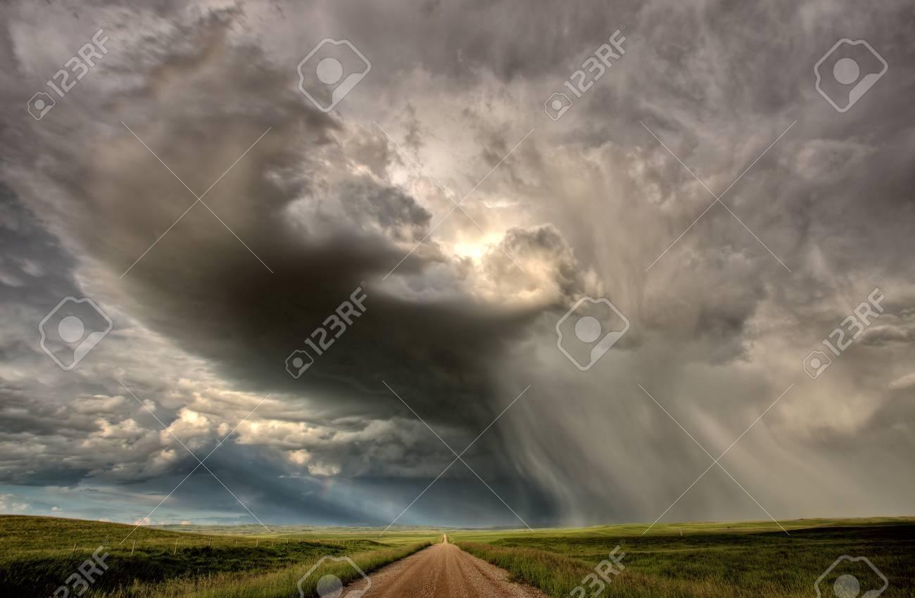 Storm Clouds Prairie Sky Saskatchewan Canada Stock Photo - 8325859