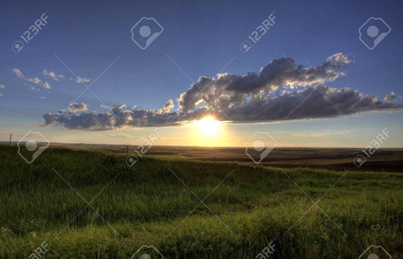Storm Clouds Prairie Sky Saskatchewan Canada Stock Photo - 8325830