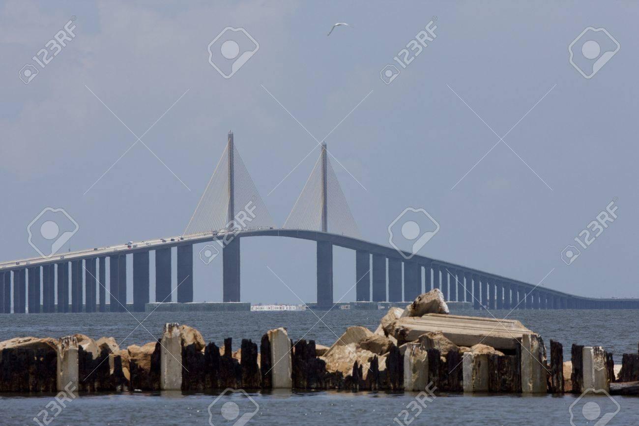 Sunshine Skyway Bridge Tampa Bay Florida Stock Photo - 8347809