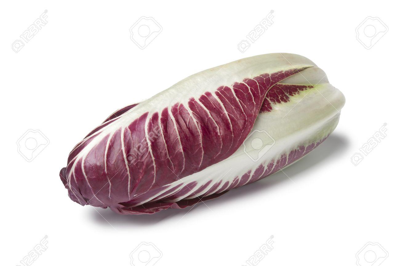 Fresh Radicchio rosso on white background Stock Photo - 11865361