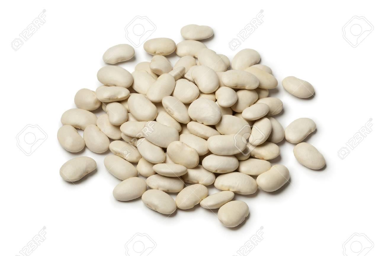 Lima beans on white background - 26955339