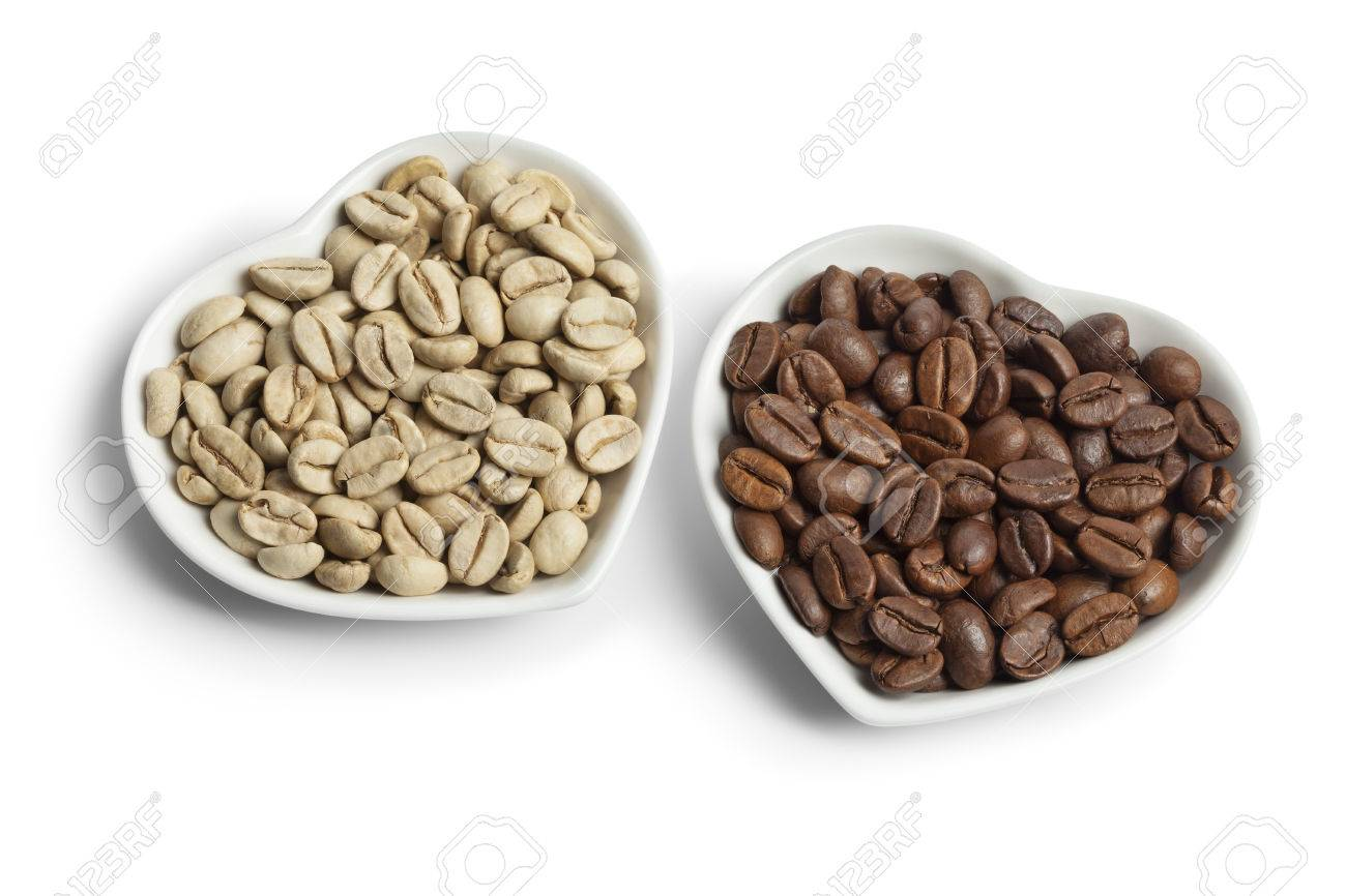 chicco di caffè verde indiano