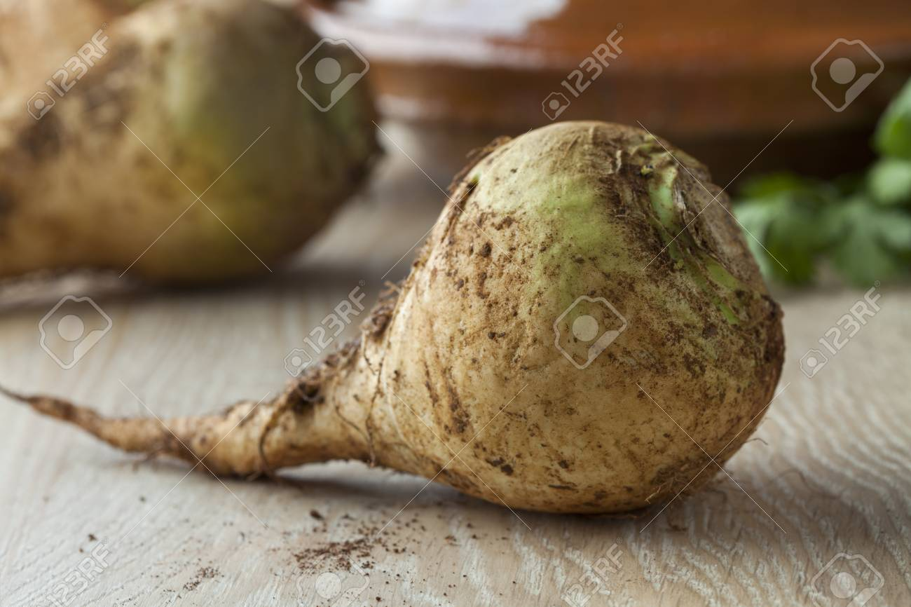 Moroccan fresh raw swede close up - 75612167