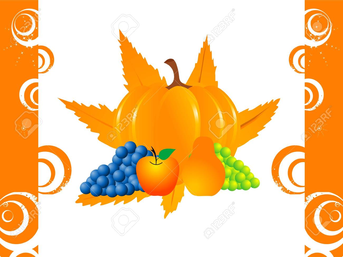 fruits and pumpkin in thanksgiving  ceremony Stock Photo - 3300675