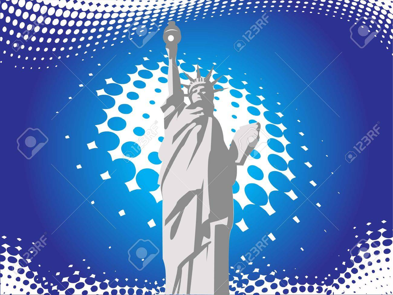 statue of liberty on abstract background Stock Photo - 3300732