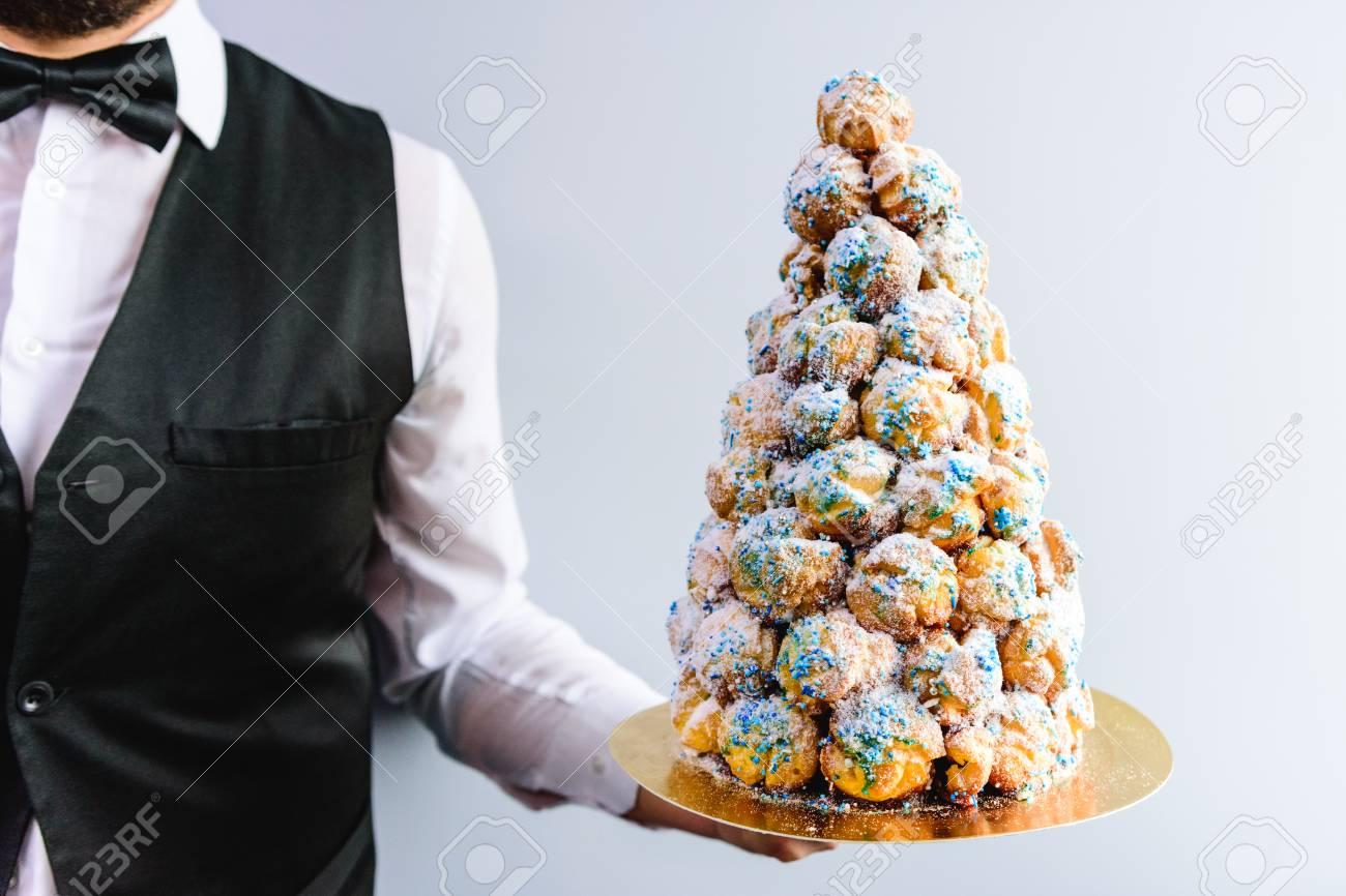 Crockenbush Or Profiterole Tower (cone Of Glazed Profitroles ...