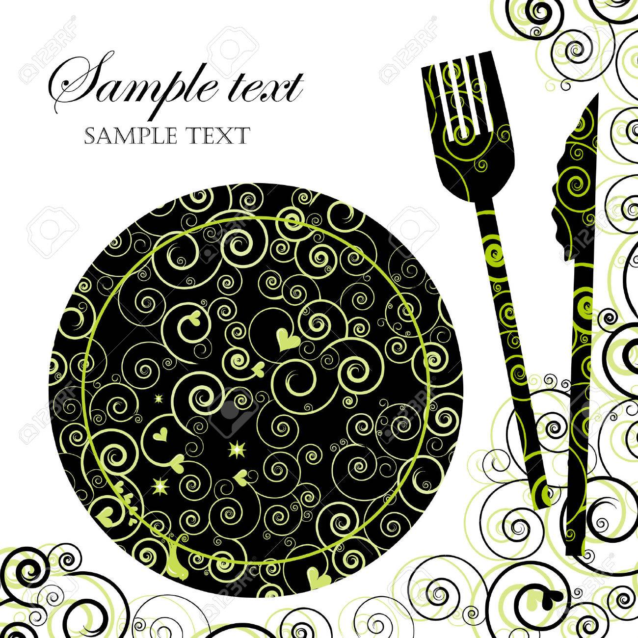 Menu Or Invitation For Dinner Parties And Showers Royalty Free – Free Dinner Invitation