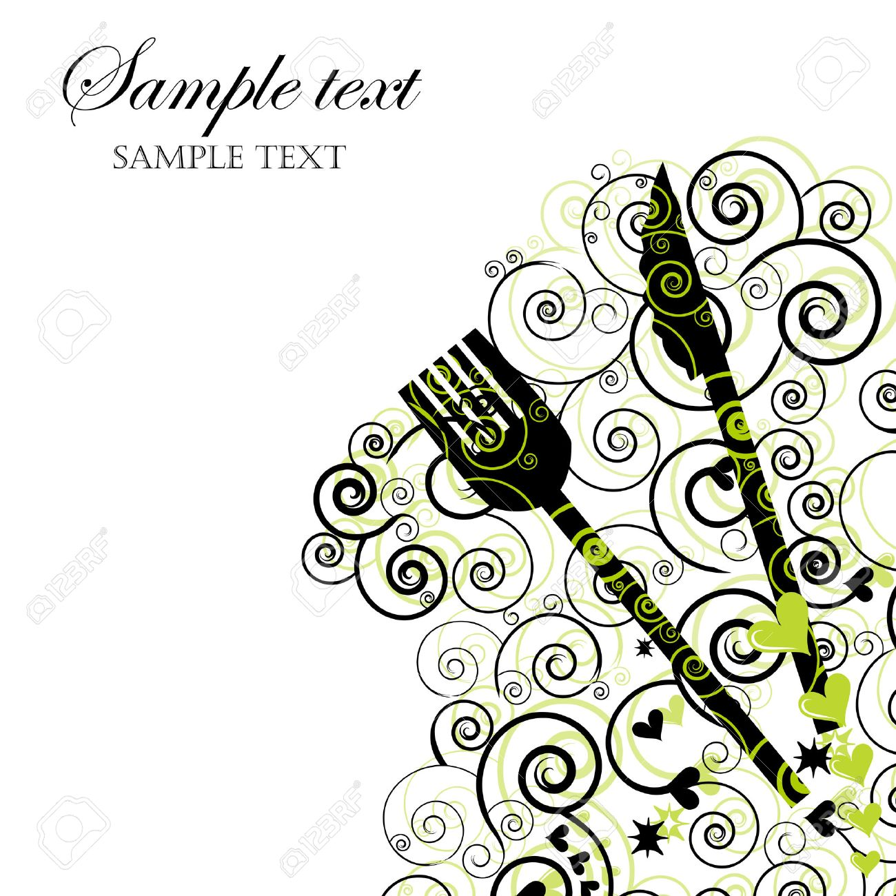 Menu or Invitation for Dinner, Parties and Showers Stock Vector - 6226115