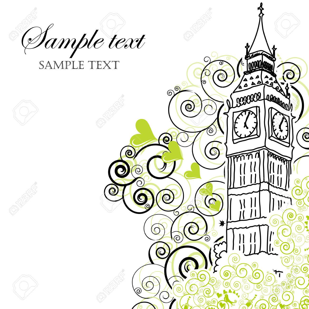 Big Ben Poster, Cover or Greeting card Stock Vector - 6226128