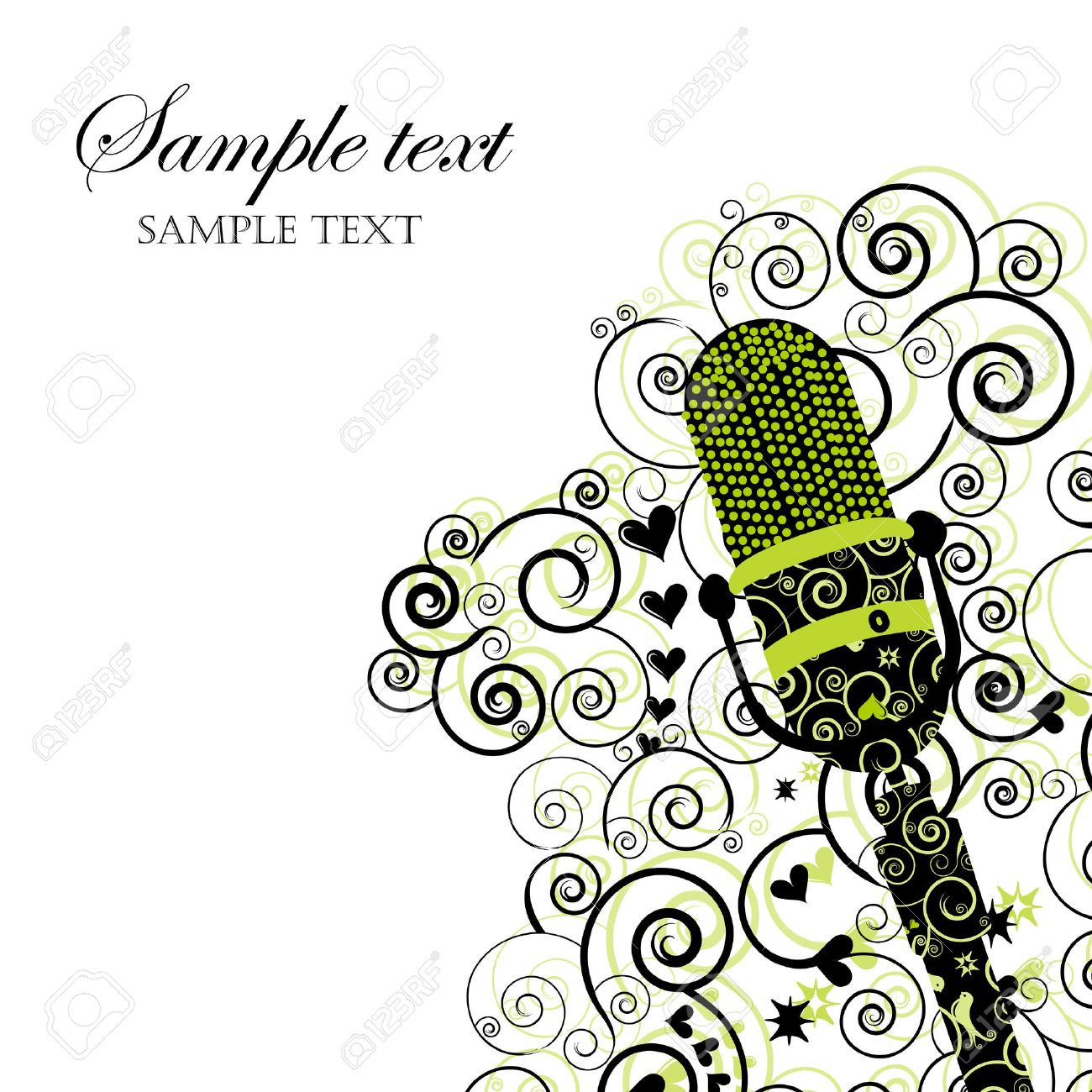 Event Invitation With Microphone Royalty Free Cliparts Vectors – Karaoke Party Invitation