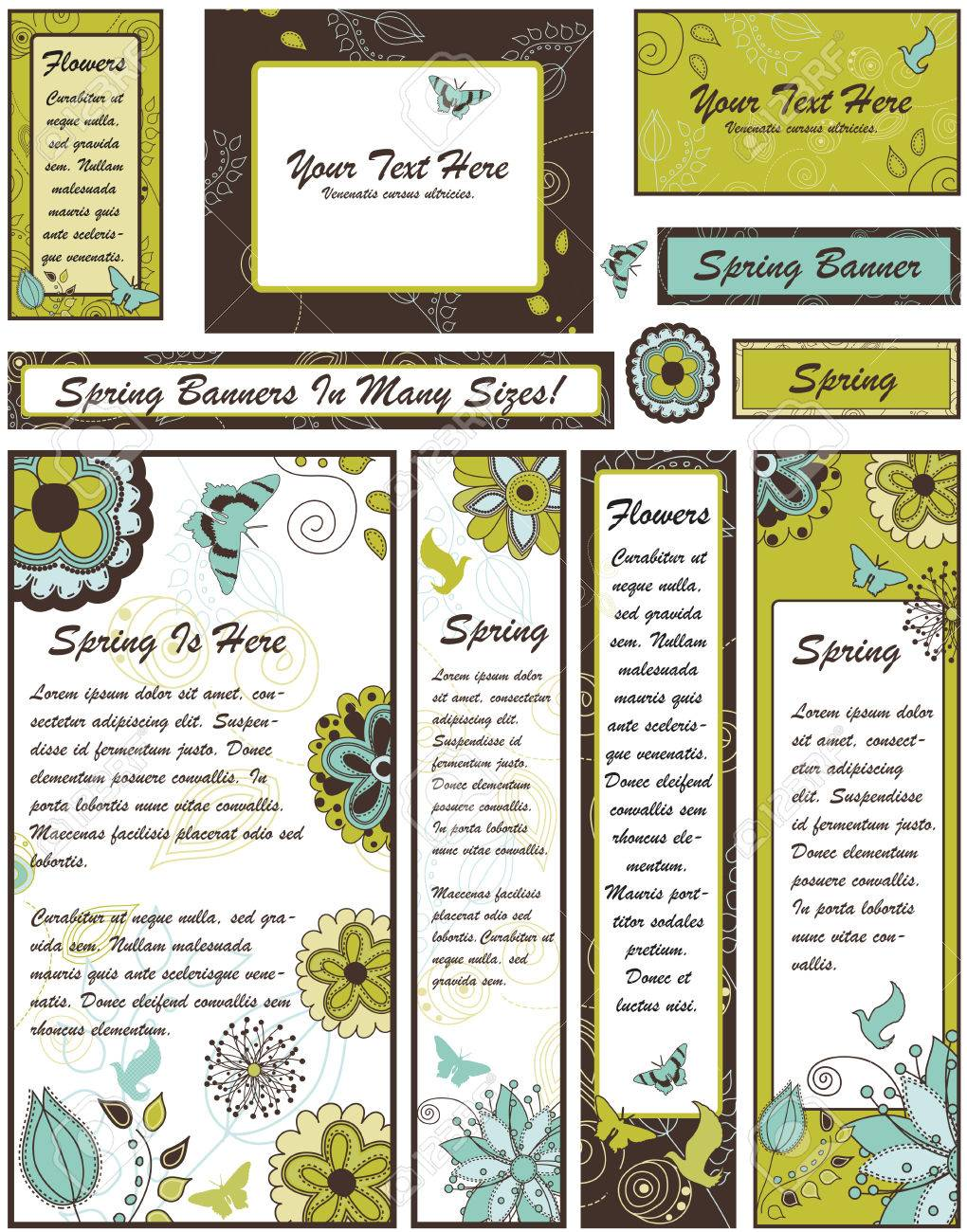Set of Floral Banners and Adverts in Many Different sizes Stock Vector - 6485988