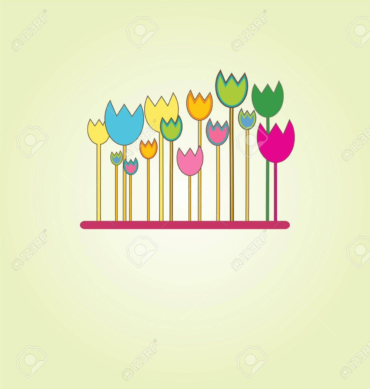 A sweet floral background in bright colors Stock Vector - 7417911