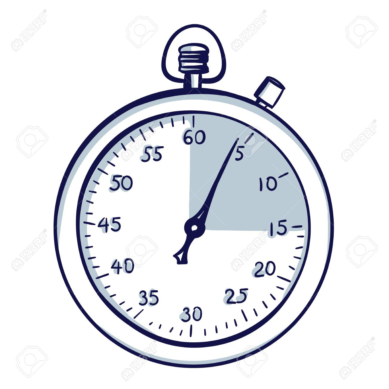 Stopwatch / stop watch timer  Hand drawn doodle cartoon vector