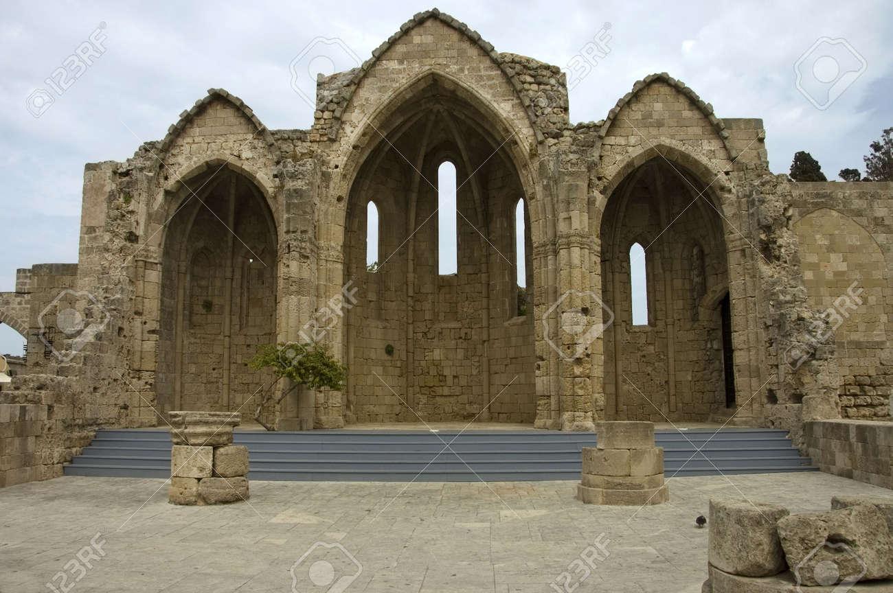 The Gothic church of  Rhodes Citadel , Greece Stock Photo - 1016031