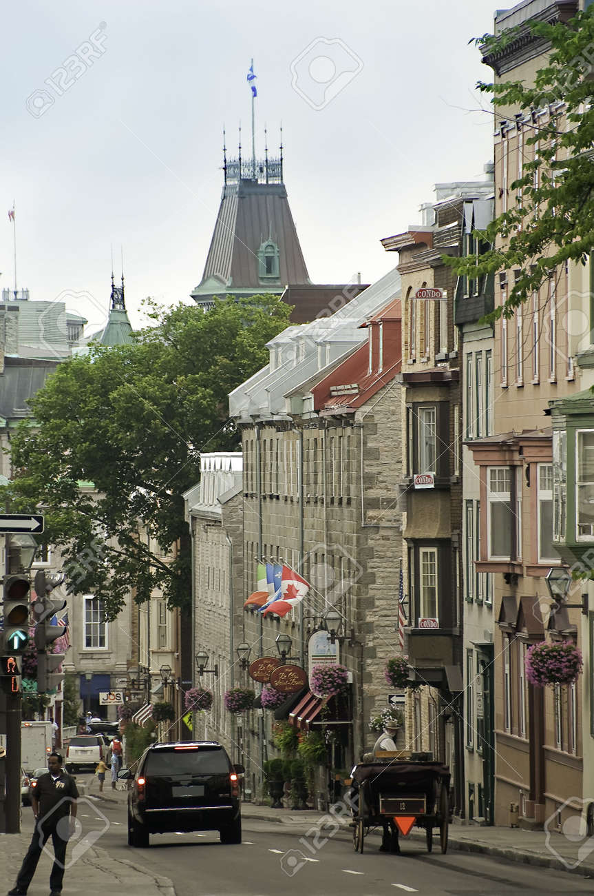 Quebec Canada August 21 Street Of Old Quebec City Canada