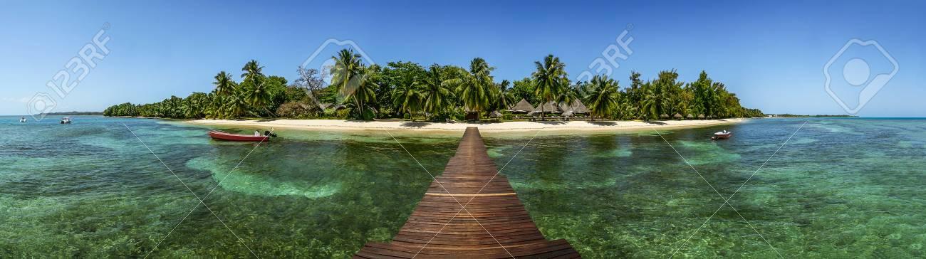 Vista Panorámica De La Isla De Sainte Marie Al Este De Madagascar