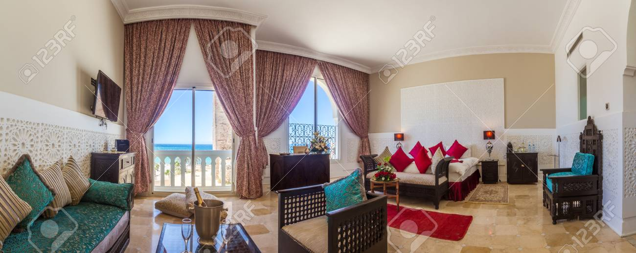Admirable Beautiful Panoramic Hotel Room Suite In Arabic Style Home Interior And Landscaping Elinuenasavecom