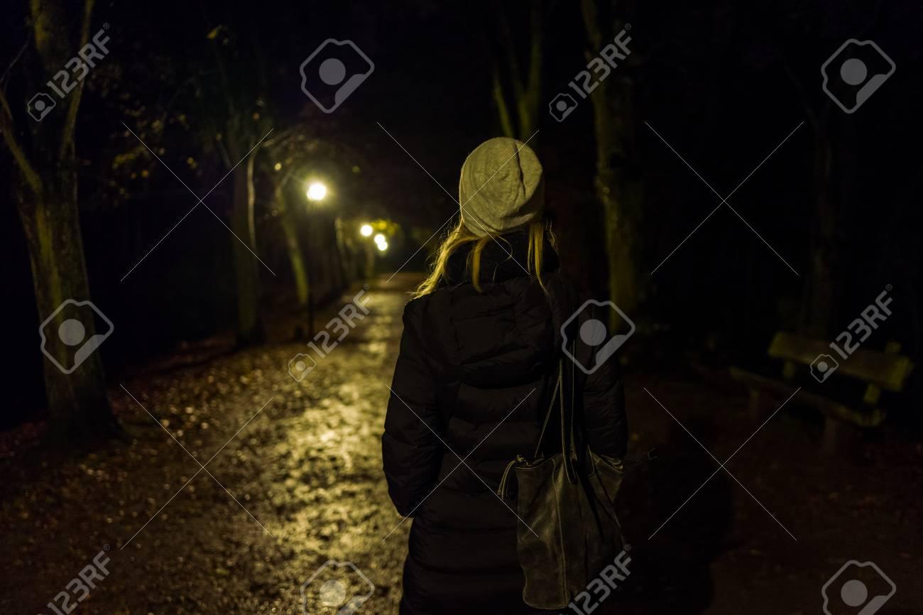 Blonde girl with cap in Kranichstein, Germany. Standard-Bild - 89715058