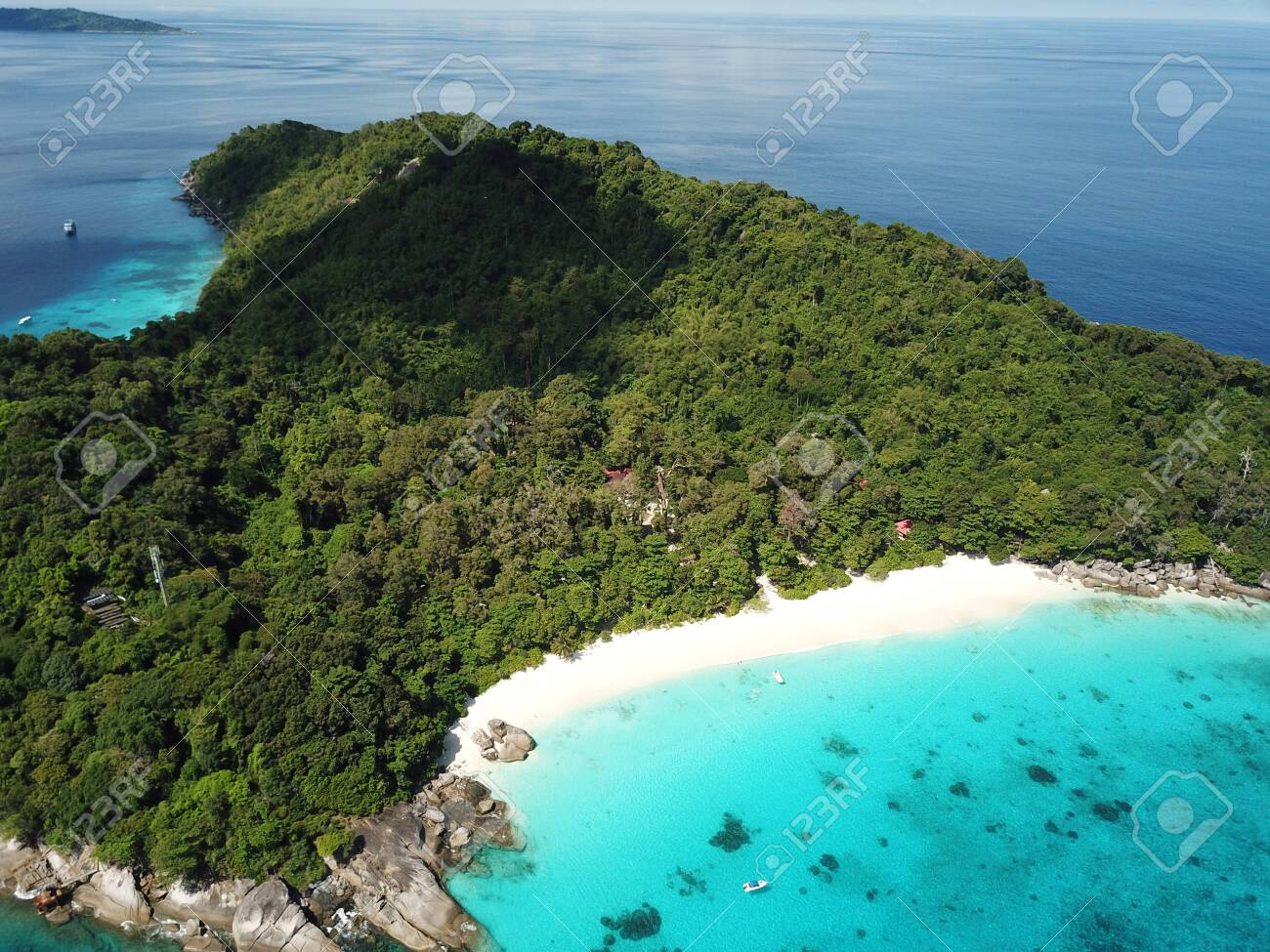 Aerial view of Similan island in Thailand - 132017164