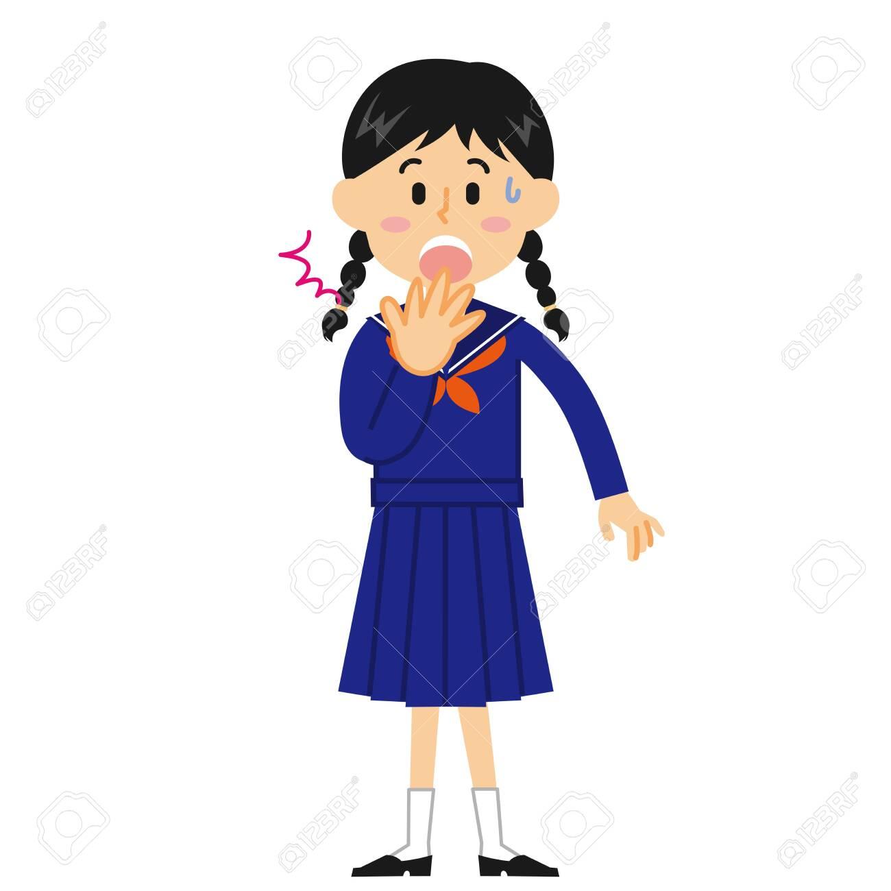 Female Junior High School Student Surprised - 131276064