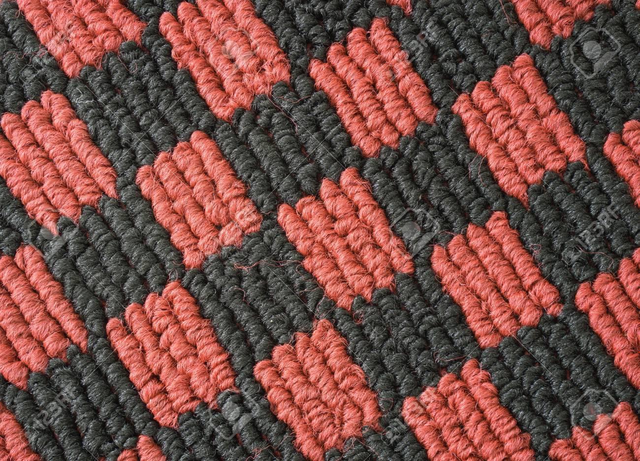Red Und Schwarz Checked Muster Auto Boden Matte Teppich Textur