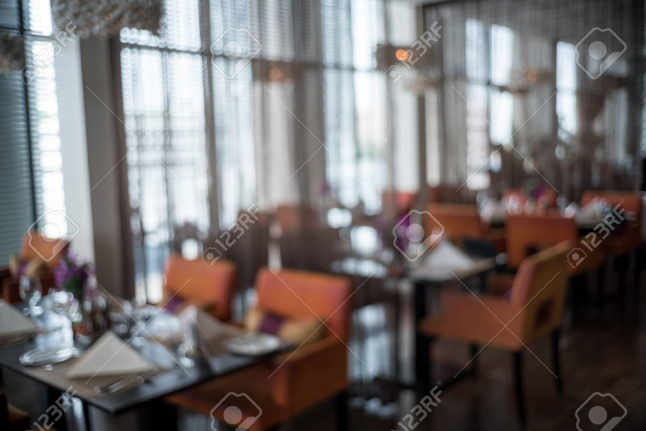 Abstract Background And Blur Defocused Elegant Dining Room Beautiful Interior Details Standard