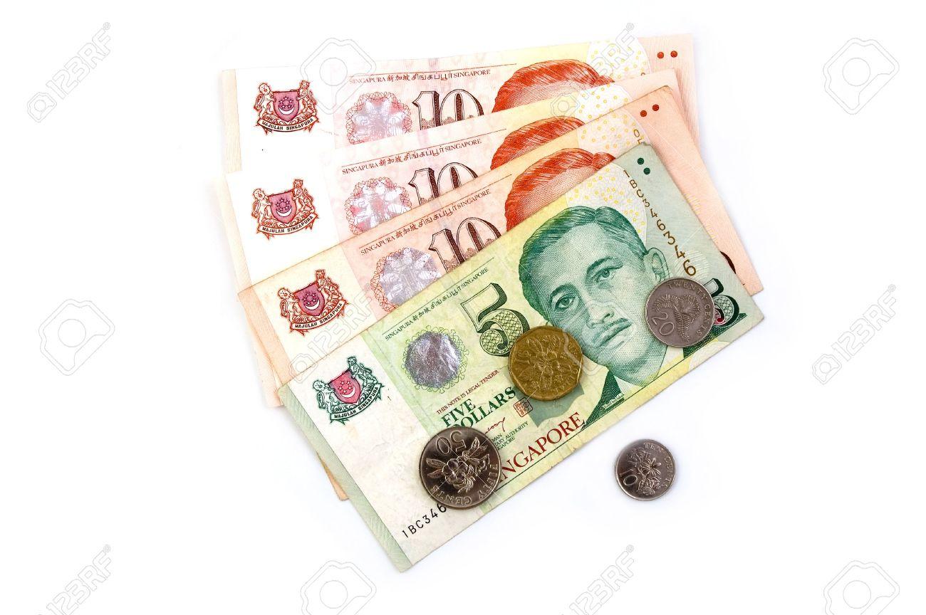 Singapur Dollar Und Münzen Lizenzfreie Fotos Bilder Und Stock