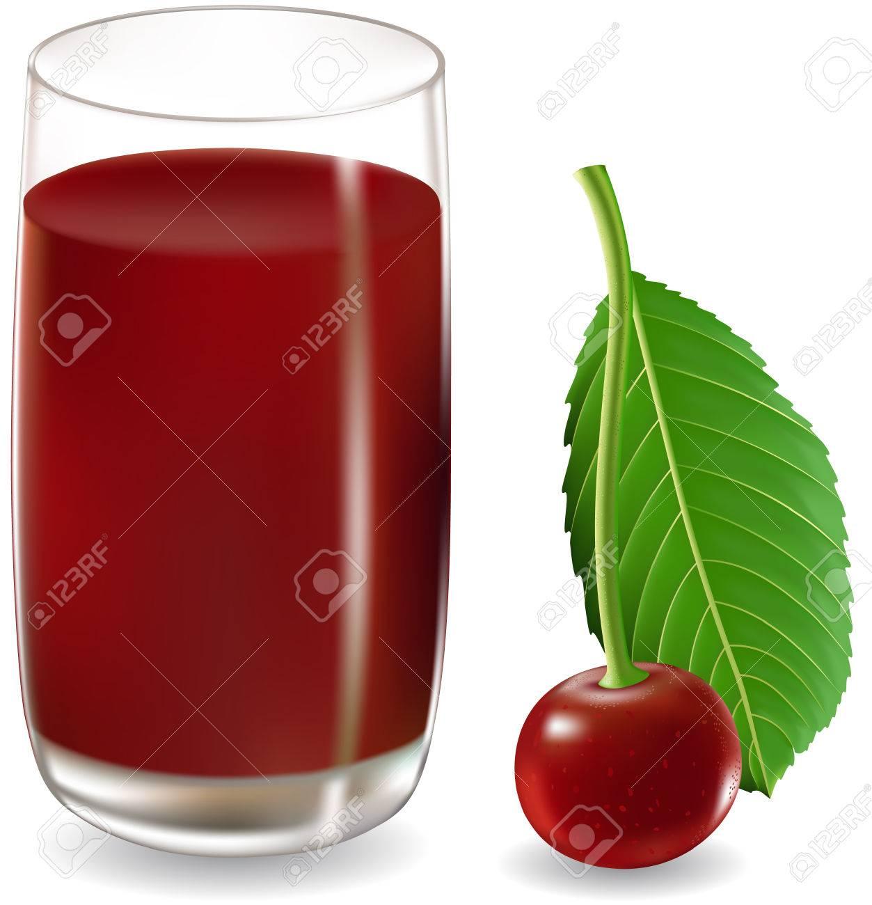 cherry juice Stock Vector - 5414179