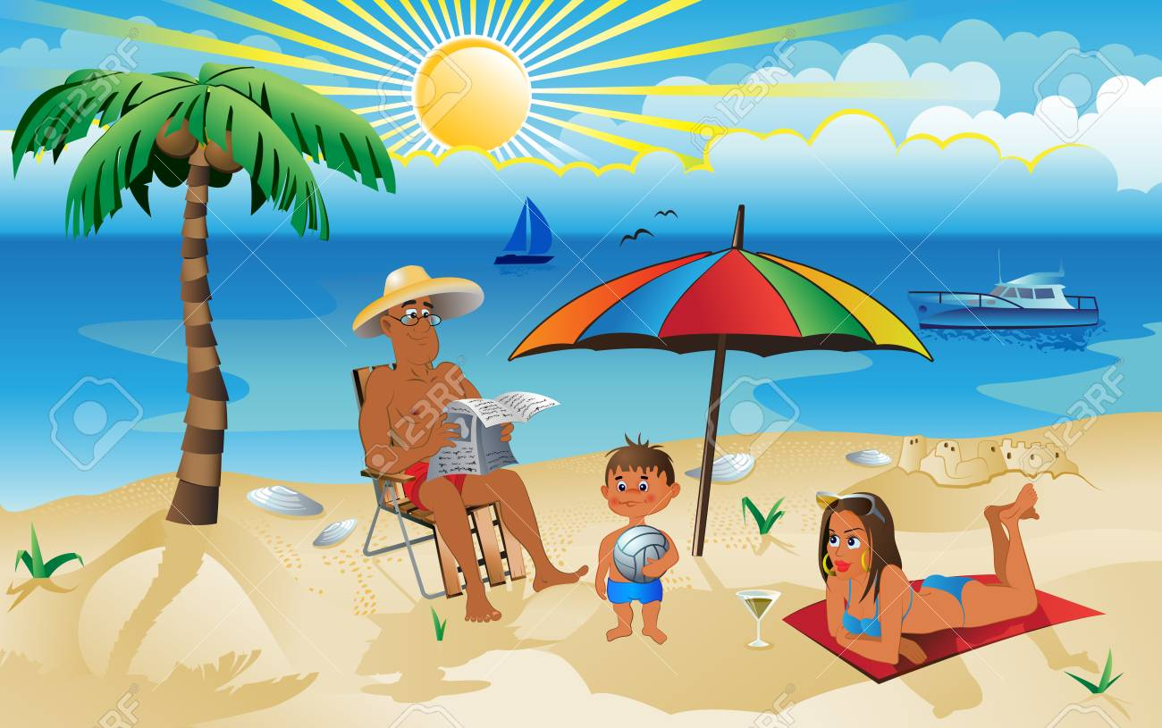 a family on vacation Stock Vector - 5471649