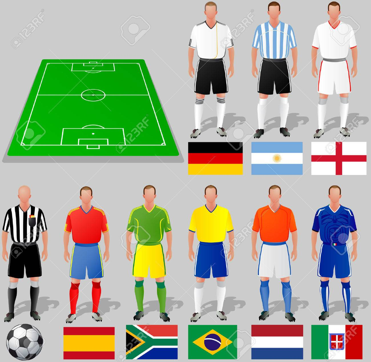 World Cup, Group A Stock Vector - 7159505